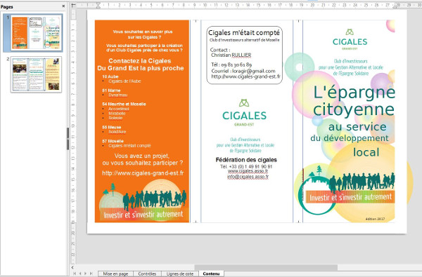 Brochure 3 volets avec Libre Office